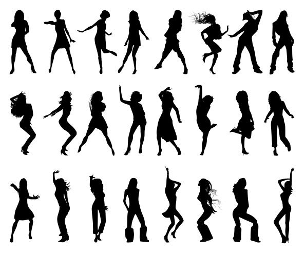 Dancing girls silhouettes set containing 24 vibrant poses that will perfectly suit to any disco flyer, party event poster or banner and so on. Go ahead and download it as freebie. Continue reading →
