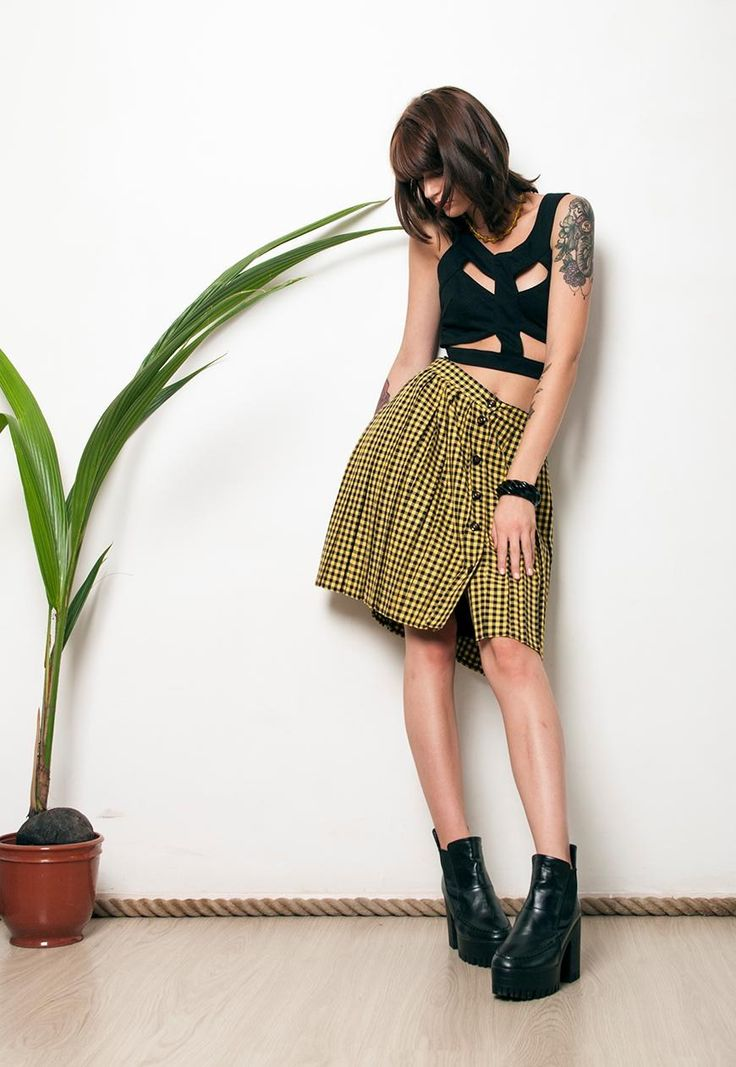 (99+) 80s vintage checked grunge pleated punk schoolgirl skirt | Pop Sick | ASOS Marketplace