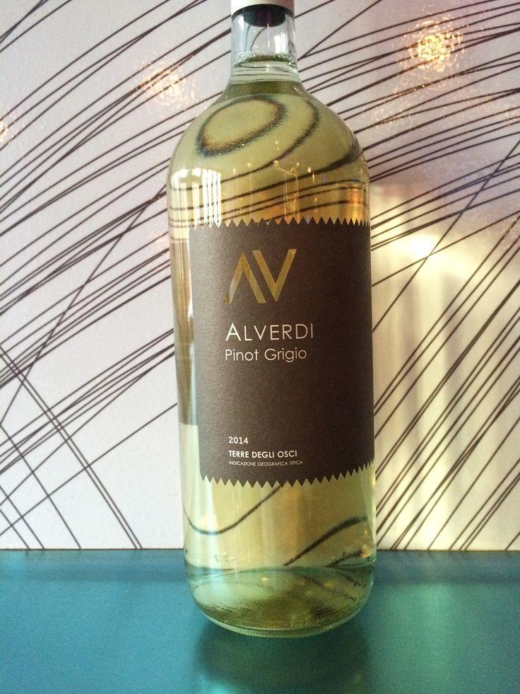 Pinot Grigio, Alverdi, Italy (house) - Crisp and refreshing. Soft—almost tropical– fruit.