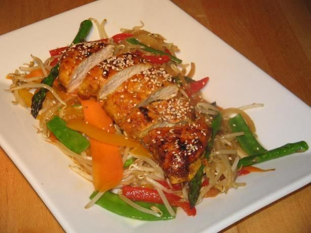Spicy Chicken Breast/Roast With Stir Fried Vegetables | Recipe