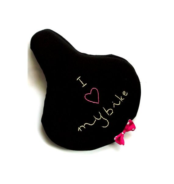 Romantic I love my bike seat cover saddle cover by PetusaSelection