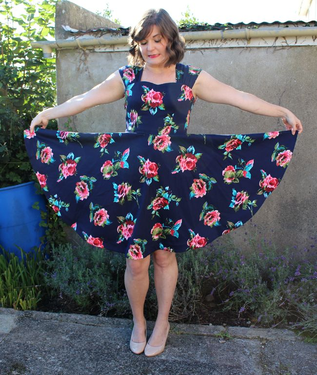 Sewaholic Cambie dress with circle skirt