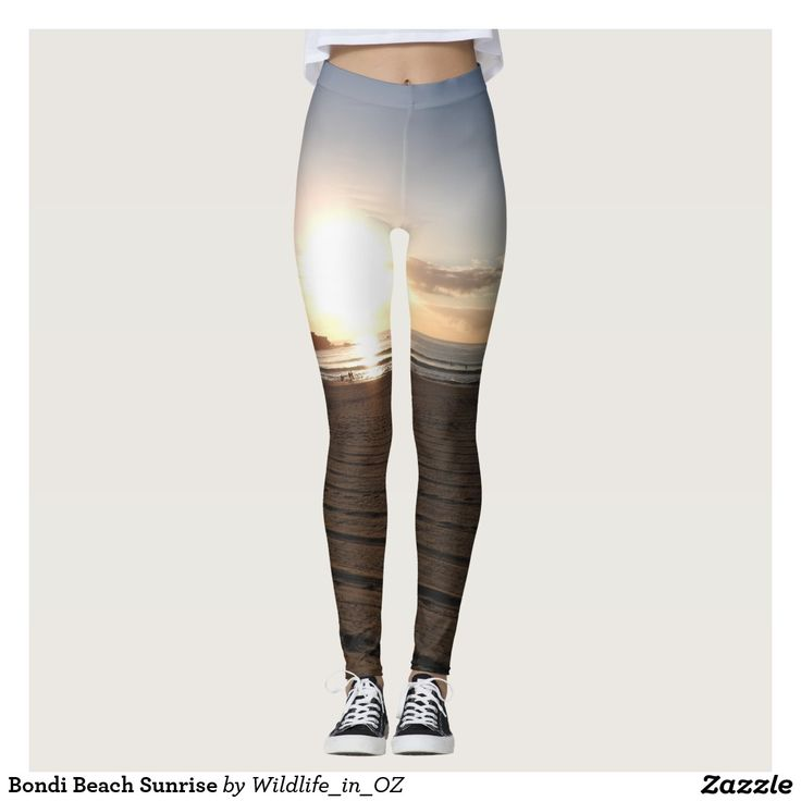 Bondi Beach Sunrise Leggings - Click on photo to view item then click on item to see how to purchase that item. #bondibeach #bondi #iconicbeach #sydney #australia #surf #sunrise #sand #surf #yachting