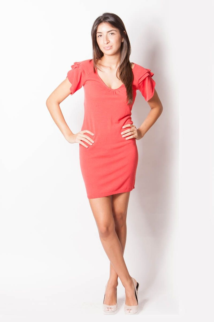 Coral Dress from Yuka Apparel