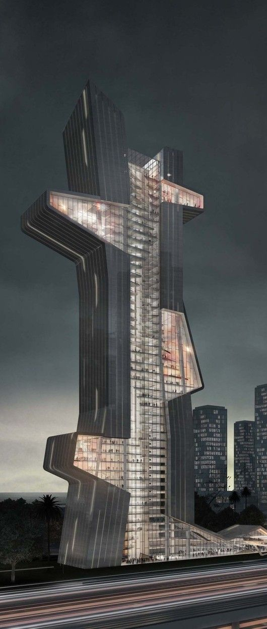 1171 best images about modern high rises on pinterest for Famous modern architecture buildings