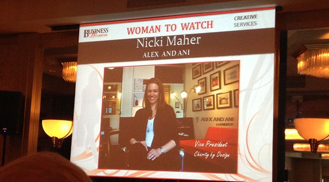 Nicki Maher, VP of Charity of Design wins PBN's Woman To Watch For Creative Services Award!