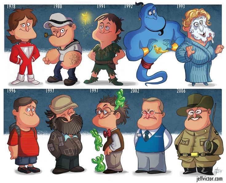 "Jeff Victor's new print: ""The Evolution of Robin Williams"""