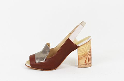 &Attorney Isa Heel in Tan + Pewter