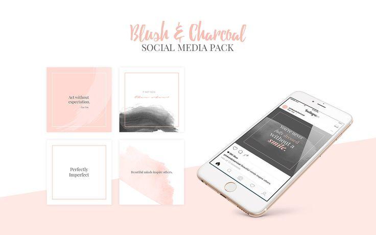 Blush & Charcoal Social Media Kit, Instagram Layout, Instagram Designs, Social Media Post, Social Media Designs, Instagram Templates