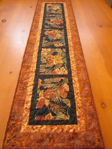 Another easy Fall table runner that shows off gorgeous autumn prints (or any season)