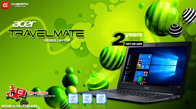 """PLEASE READ CAREFULLY. SOME OF YOUR QUESTIONS MIGHT BE ANSWERED ON POST'S DESCRIPTION!  In partnership with #AcerPH we introduce our new latest Acer TravelMate Series laptop with Intel's latest 7th Gen processor at this introductory price! Order now!   """"FREE DELIVERY WITHIN METRO MANILA AREAS""""  2 YEARS EXTENDED WARRANTY FOR PARTS AND LABOR!!!  Acer Travelmate TMP249-M-C2VF Price: Php 21,300  - Windows 10 Home Single Language 64bit - Intel Celeron 3855U 1.6GHZ, 2MB Cache,Skylake 6th Gen - 4GB…"""