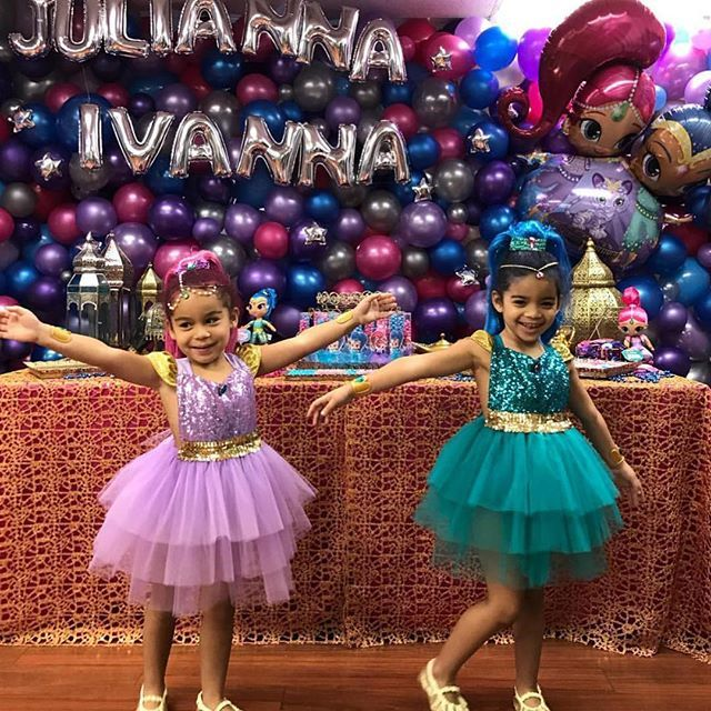 Shimmer /& Shine 3rd third 3 Birthday ***With NAME*** Purple Tutu Dress