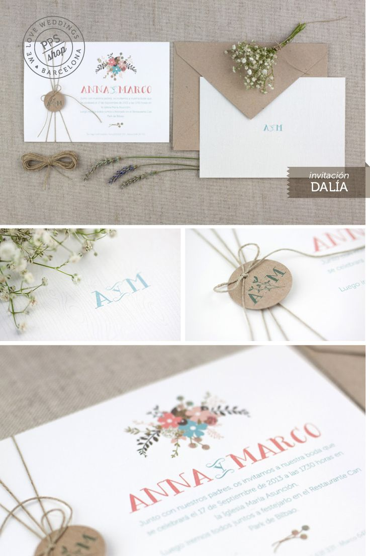 http://www.projectpartystudio.com/invitaciones-bodas/invitaciones/invitacion-dalia.html #ppstudio #wedding #invitación #boda #projectpartystudio