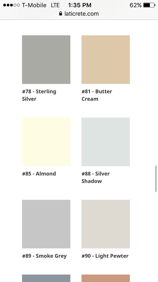 Laticrete Silver Shadow Vs Smoke Grey Vs Sterling Silver