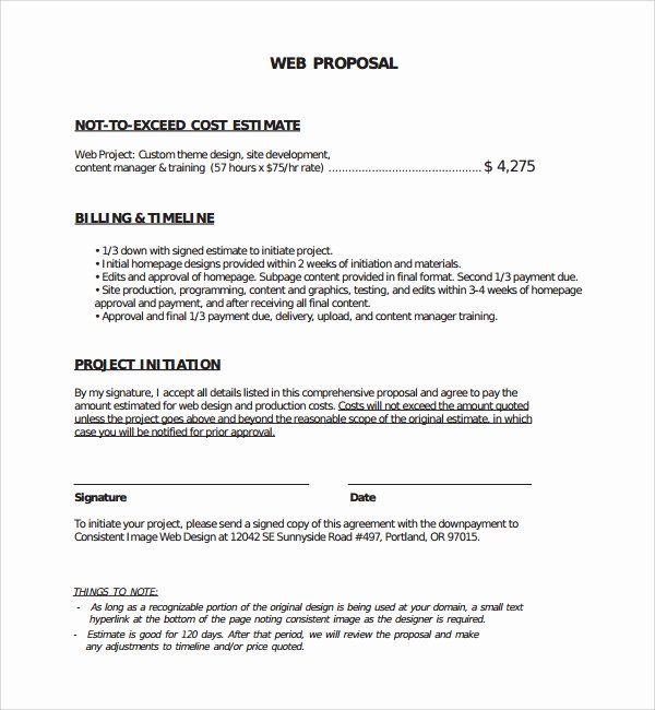 Website Proposal Template Doc Awesome Sample Web Design Proposal Template 8 Free Documents In In 2020 Web Design Proposal Proposal Templates Website Proposal