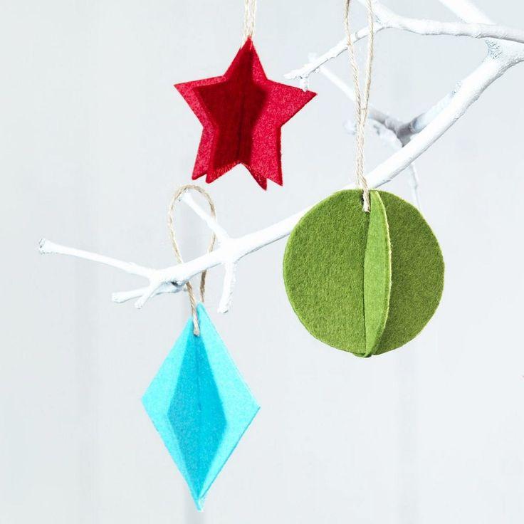 Mjuka och hållbara julgranshängen