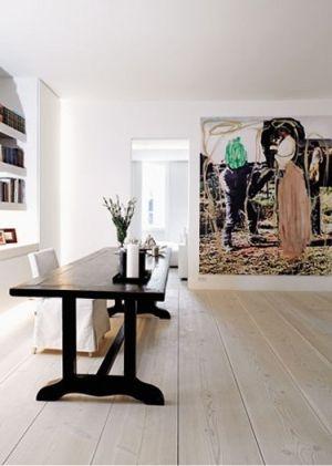 wide plank plywood floors