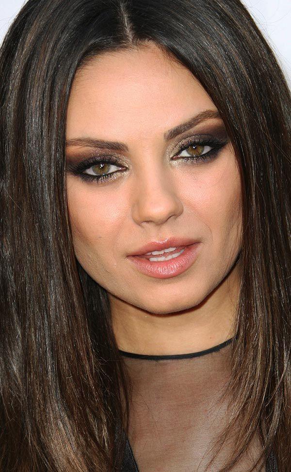 Mila kunis cat eye makeup