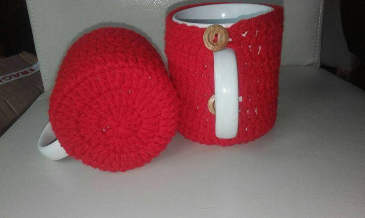 Crochet mug cozy, coffee cup cozy, mug crochet cozy. Set of 2 tea cup cozy, ready to ship by crochetfifi on Etsy