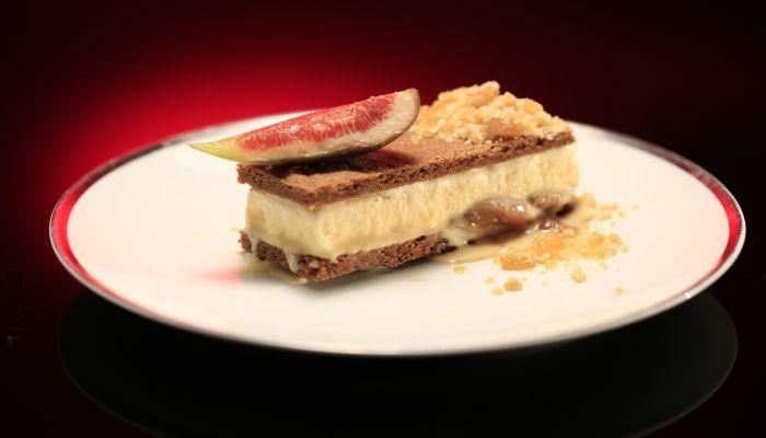 Jane and Emma's Fig & Honey Ice Cream Sandwich with Almond Prailine