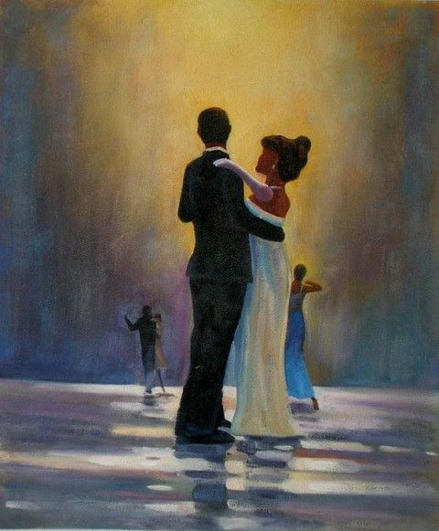 Dancing on the Rain Oil Painting | Oil painting ...