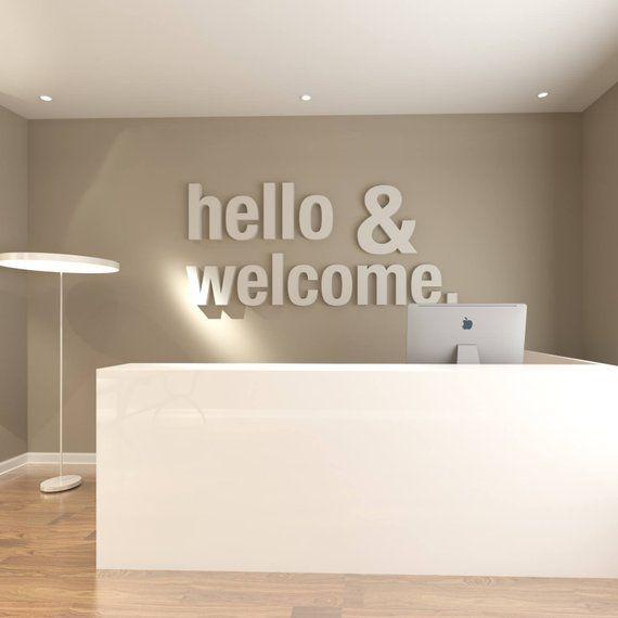 Hello Welcome Bureau Deco Bureau Decoration De Bureau Bureau Deco Deco De Bureau Bureau De Style 3d Deco