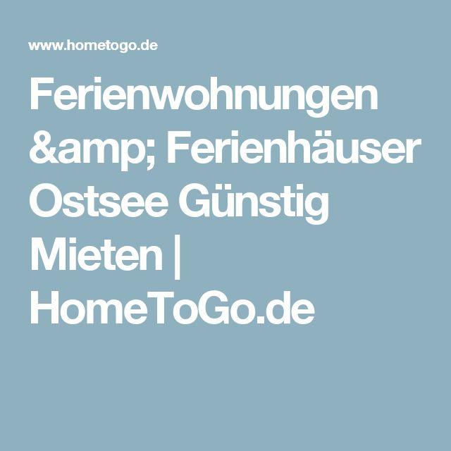 Ferienwohnungen & Ferienhäuser Ostsee Günstig Mieten | HomeToGo.de