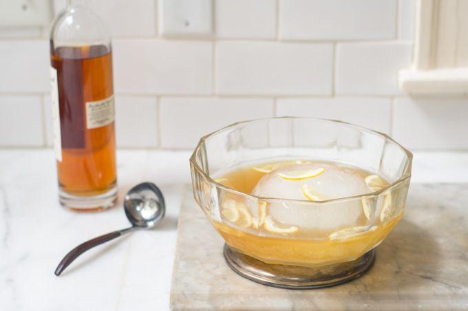 Winter Shandy - Lemon Juice, Maple Syrup, Apple Brandy, Ginger Beer, Pilsner Beer, Lemon Slices.