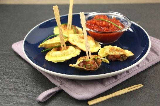Pastels de truite, sauce tomate pimentée | Atelier Poisson