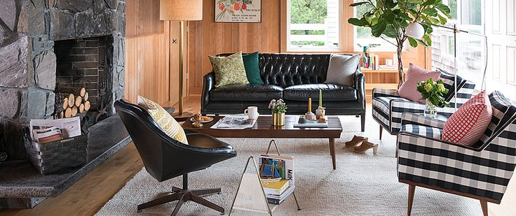 Period & Modern Lighting, Furniture & Hardware | Schoolhouse Electric | I like the layout of the space, and the fireplace location
