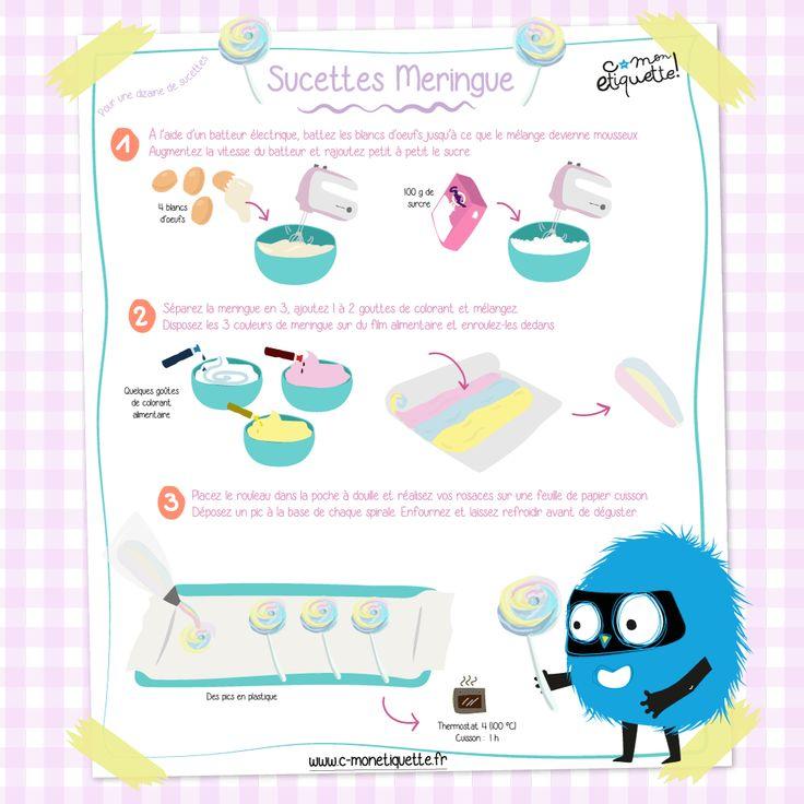 Venez découvrir notre recette de sucettes meringue rapide et facile à faire ! Idéales pour une petite pause gourmande dans la journée de vos enfants !
