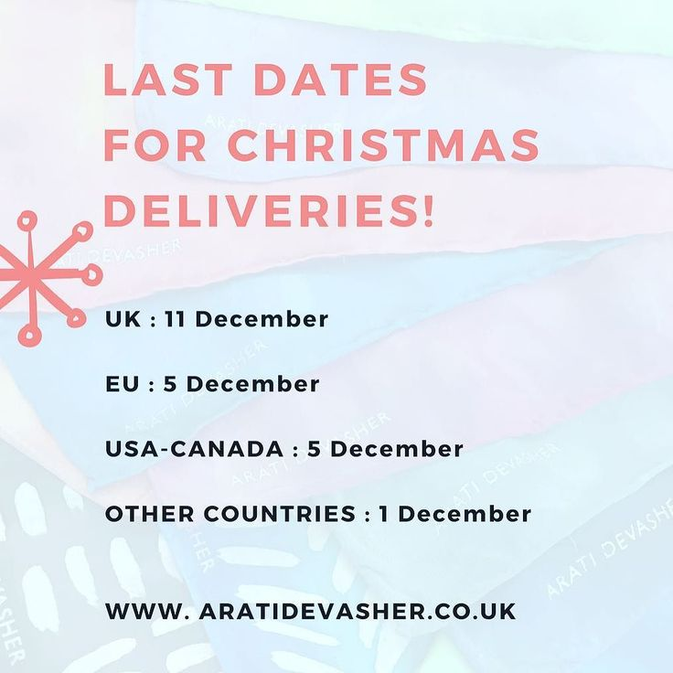 Order now! The postal service is notoriously unreliable for Christmas deliveries after these dates. Click the link in my profile or go to aratidevasher.co.uk to shop. Don't forget the code ILOVESILK is still valid until tonight.  #aratidevasher #shopindependent