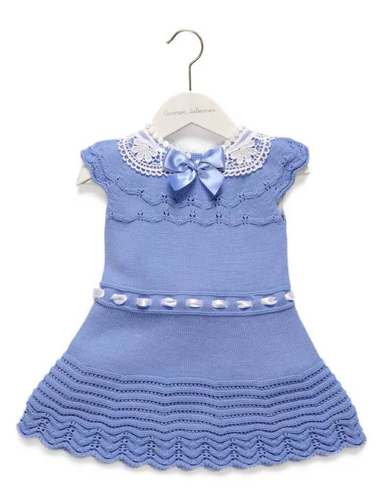 Carmen Taberner Blue Dress