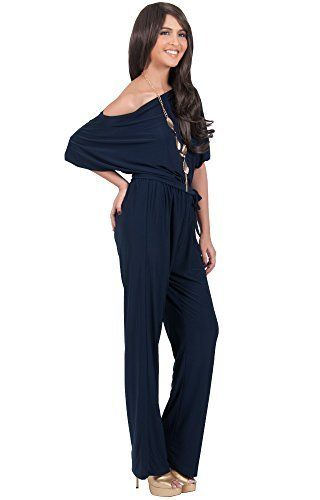 ec9b0b43fbc3 KOH KOH Women One Shoulder Short Sleeve Sexy Wide Leg Long Pants One Piece Jumpsuit  Jumpsuits Pant Suit Suits Romper Rompers Playsuit Playsuits