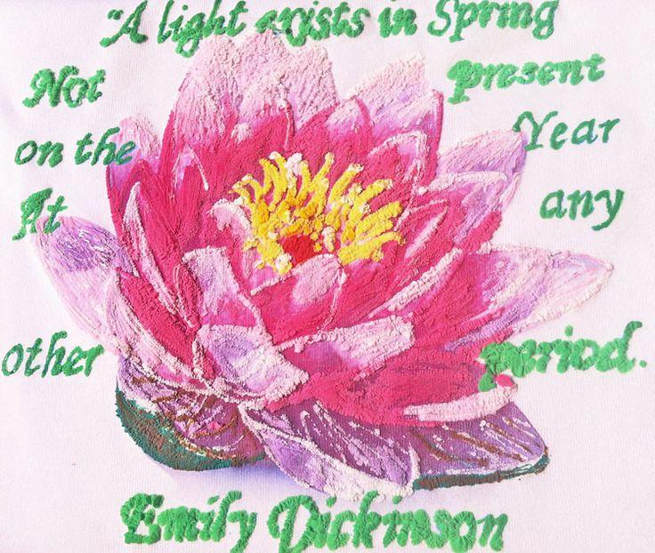 LOTUS Flower Painted 3d T-shirt Emily Dickinson poetry Tshirt