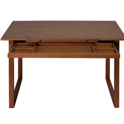 Offex Ponderosa Wood Drafting Table