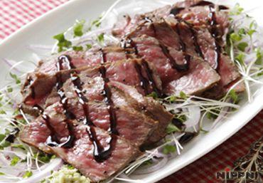 牛肉のたたき~バルサミコソース~