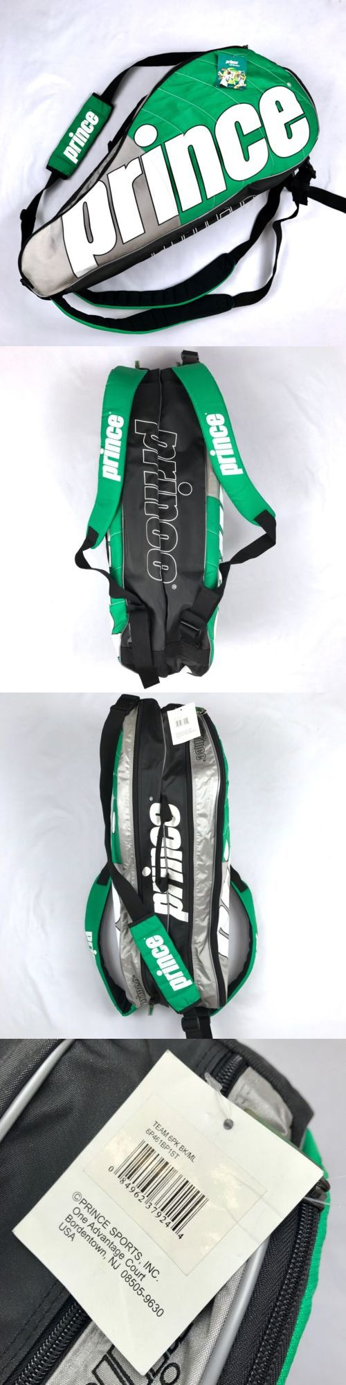 Bags 20869: Prince Tennis Racquets Team 6Pk Carrying Bag 6 Case Backpack Straps Racquet -> BUY IT NOW ONLY: $38.49 on eBay!