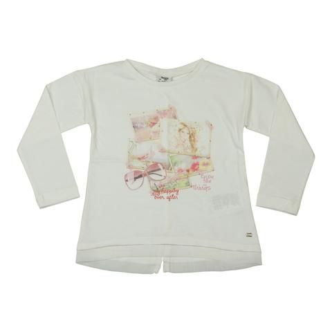 Mayoral Girls Ivory Photos T-Shirt - Young Timers Boutique  - 1