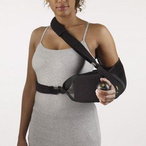 Corflex Ultra Shoulder Abduction Pillow with Sling-L - Black by Corflex. $67.99. Indicated for treatment after Bankart repairs, rotator cuff repairs, shoulder arthroscopy, separations and dislocations Constructed of firm density foam covered in tricot material with tricot sling and exercise ball to stimulate circulation