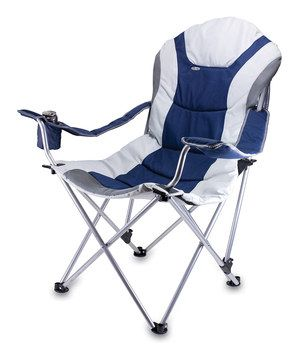 Look at this #zulilyfind! Navy & Gray Reclining Camp Chair by Picnic Time #zulilyfinds