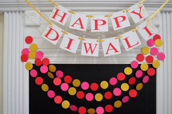 Happy Diwali Banner, Diwali Sign, Indian Festival of Lights decor, Divali Nagar, Hindu Festival, Laxmi Puja, Diwali Decoration