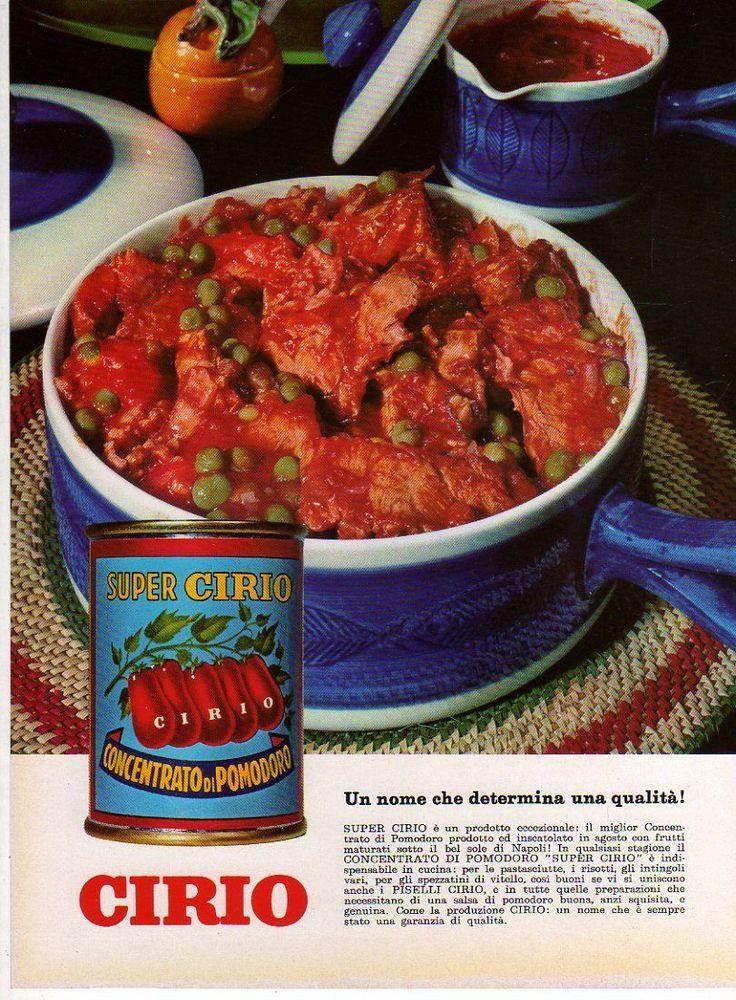 Pubblicità 1966 Concentrato di pomodoro Super Cirio