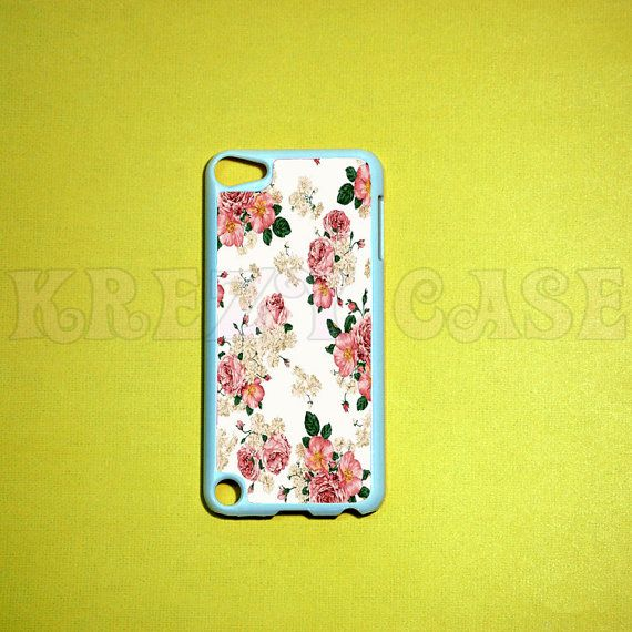 iPod Touch 5 Case Vintage Flower iPod touch 5 Cases by KrezyCase, $15.95