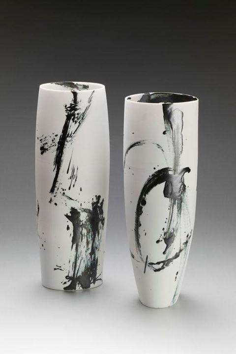 Glazing: white underglaze with splashes of glaze and clear to coat.