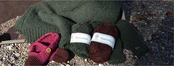 """Alafosslopi er islandsk uldgarn. Vil du strikke """"Arvingen"""", så er det det helt rigtige garn. Anvendes også til filtning."""