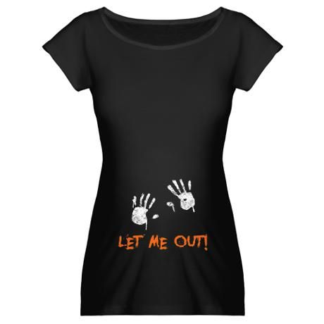 Let me out! Halloween T-shirt...this is an easy DIY shirt...if you know someone with tiny hands.