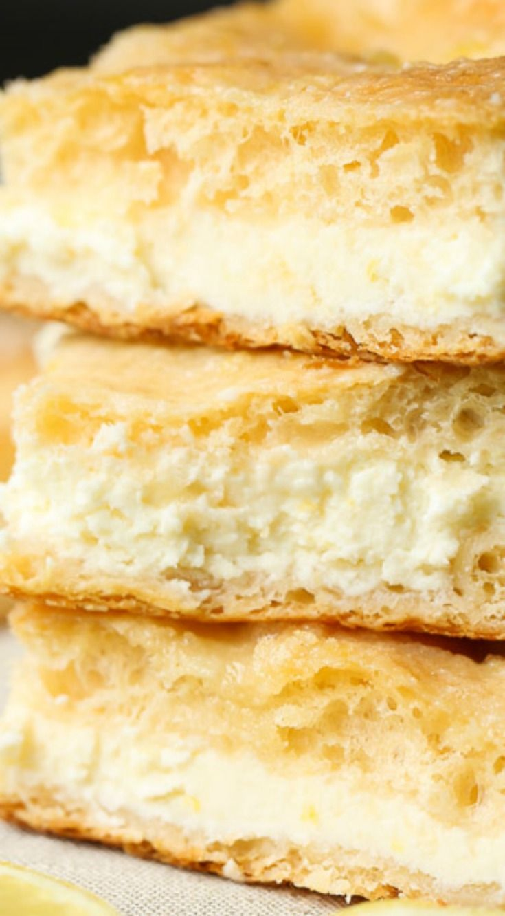 Easy Lemon Cream Cheese Bars ~ Simple to make, rich, buttery and packed with citrus flavor!