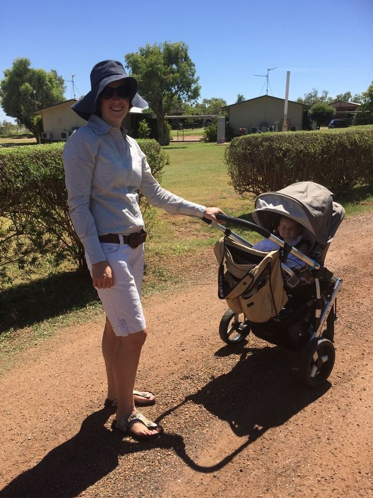 Mrs Jill Smith out for a walk with Miss Audrey in her House Of Cheri Brown Spot shirt.