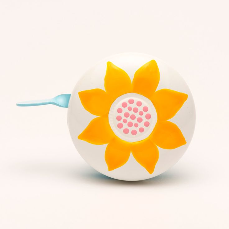 sunflower handpainted bicycle bell